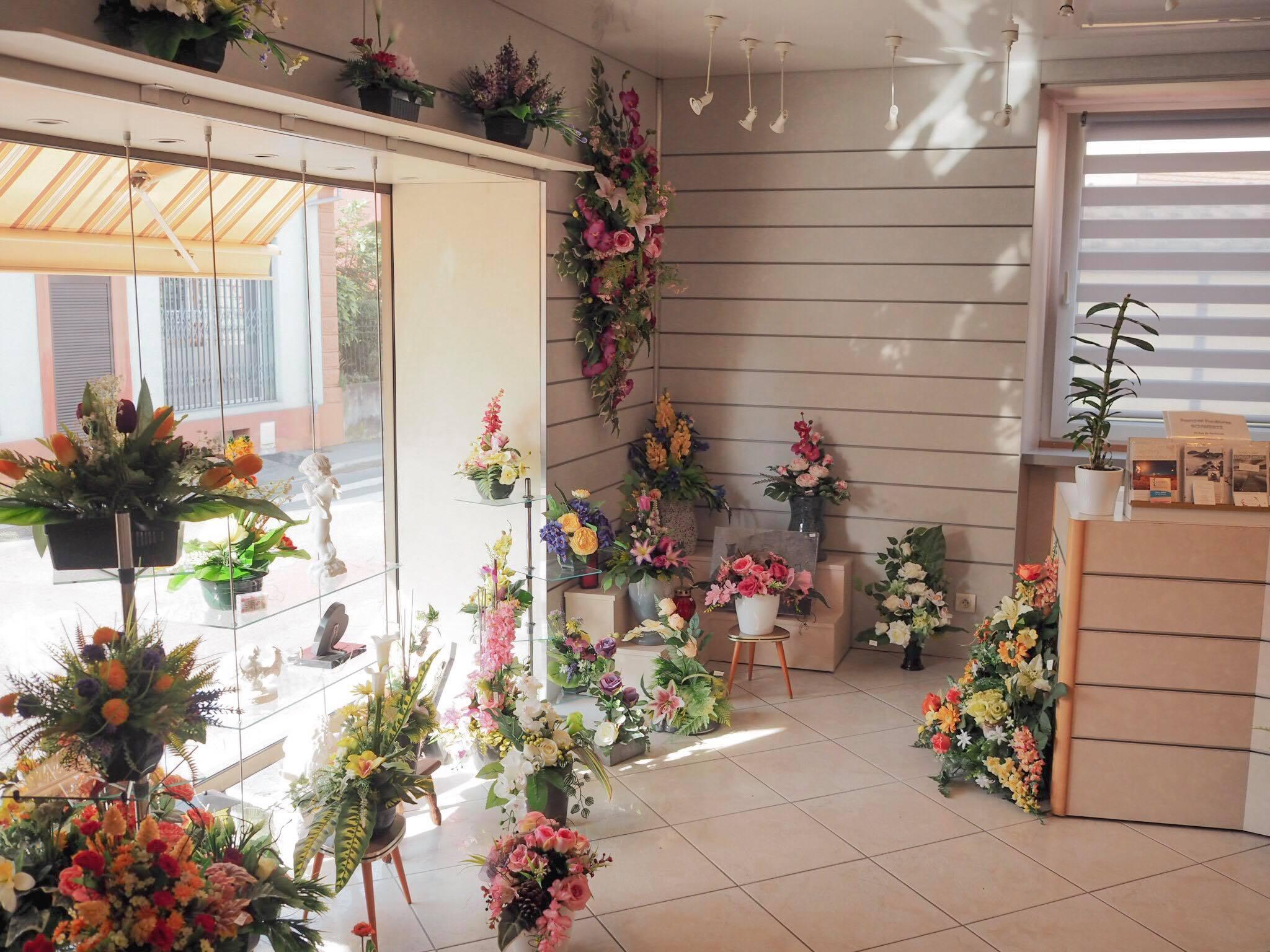 intérieur magasin pompes funèbres Riedisheim